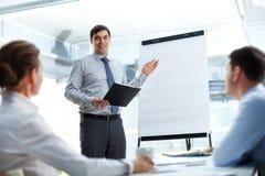 Explaining business strategy Stock Photography