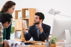 Explaining business strategy Stock Photo