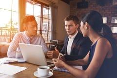 Explaining business strategy Royalty Free Stock Image