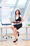 Explaining businesswoman Stock Photography