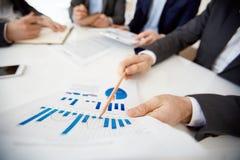 Explaining chart Stock Image