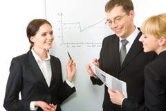 Explaining ideas Stock Images