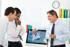 Explaining statistics Royalty Free Stock Photo