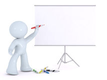 Explaining on a white board Royalty Free Stock Photo