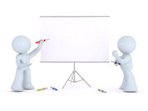 Explaining on a white board Stock Photos