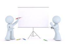 Explaining on a white board stock photos