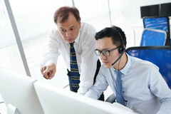 Explaining work Stock Photos