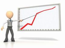Explanação do gráfico Imagem de Stock