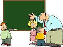 Explanação do professor ilustração stock