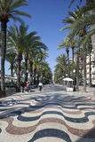 Explanada de Espania - Alicante - Spain. The Explanada de Espania promenade near the waterfront in the city of Alicante in Spain Stock Images