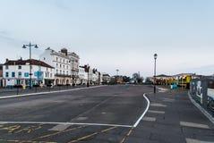 Explanada de Ryde y edificios y hoteles de la orilla del mar Imagen de archivo libre de regalías