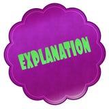 EXPLANATION on magenta sticker. Royalty Free Stock Image