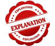 EXPLANATION red round rubber stamp. Illustration graphic concept Royalty Free Stock Photography