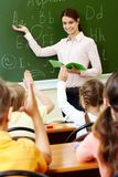 Explanation of teacher Stock Photos