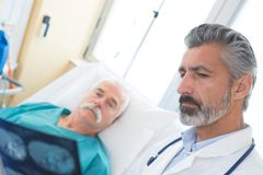 Explanation to the patient. Show royalty free stock photo