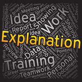 Explanation ,Word cloud art background Royalty Free Stock Photos