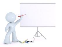 Explication sur un panneau blanc Photo libre de droits