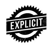 Explicit rubber stamp Stock Images