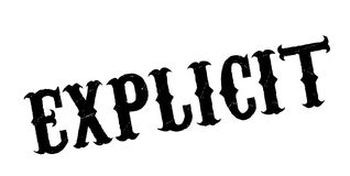 Explicit rubber stamp. Grunge design with dust scratches. Effects can be easily removed for a clean, crisp look. Color is easily changed Stock Image