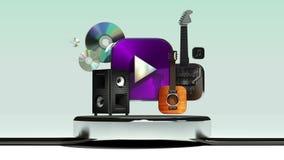 Explique la diversa función de servicio de Internet de la transferencia directa de la música para el reloj elegante libre illustration