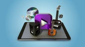Explique la diversa función de servicio de Internet de la transferencia directa de la música para el teléfono elegante cojín eleg stock de ilustración