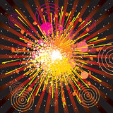 Explode. Retro stylized explode backdrop-vector Royalty Free Stock Images