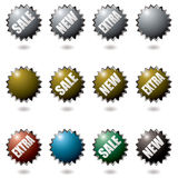 Explode buttons Stock Image
