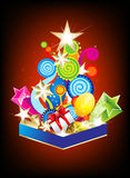 Explode christmas tree background Royalty Free Stock Photo