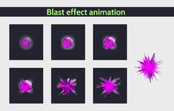 Explode effect animation Royalty Free Stock Photos