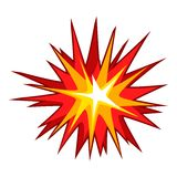 Explode effect icon, cartoon style. Explode effect icon. Cartoon illustration of explode effect vector icon for web Royalty Free Stock Photo
