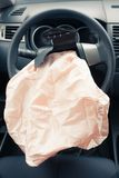 Exploded airbag Stock Photos