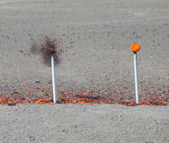 Exploded clay target Stock Photography