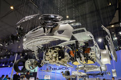 Exploded display of Buick vehicle,2014 CDMS Royalty Free Stock Photo
