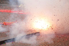 Exploded firecrackers Royalty Free Stock Images