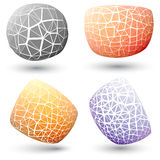 Exploded geometric shape collection. Exploded colorful geometric shape collection Royalty Free Stock Photo