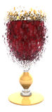 Exploded red wine glass Stock Image
