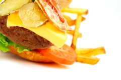 Exploded view of hamburger Royalty Free Stock Photography
