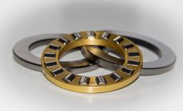 Exploded view of a thrust roller bearing. With selective focus Royalty Free Stock Images