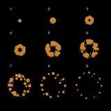 Explodeer Animatieopeenvolging De kaders van de beeldverhaalexplosie Vector vector illustratie