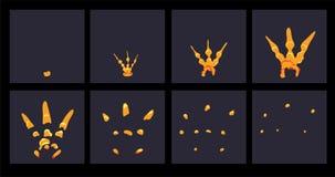 Explodeer effect animatie stock illustratie
