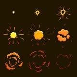 Explodeer effect animatie de animatiekaders van het spelontwerp stock illustratie