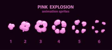 Explodeer effect animatie sprites stock illustratie