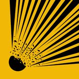 Explodeer Flits, Beeldverhaalexplosie Het internationale Onder druk gezette Symbool van het Cilindergevaar, Geel Waarschuwings Ge royalty-vrije illustratie