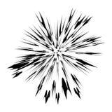 Explodeer Flits, Beeldverhaalexplosie, Steruitbarsting vector illustratie