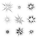 Explodeer Flits, Beeldverhaalexplosie, Steruitbarsting Stock Foto's