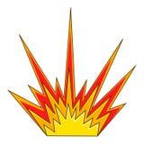 Explodeer flitspictogram, beeldverhaalstijl vector illustratie