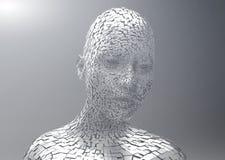 Explodeer hoofdportret vector illustratie