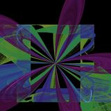 Exploderande blommastående | Fractalkonst Arkivbilder