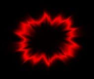 exploderande brandcirkel för effekt Stock Illustrationer