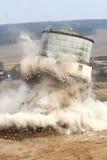 exploderande gammalt torn Royaltyfri Foto